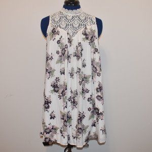 Alter'd State Small Floral Dress with Lace